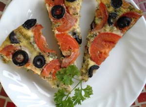 Vegetable Pizza Frittata