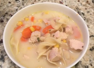Creamy Chicken Egg Noodle Soup