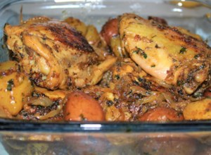 Lemon and Herb-Roasted Chicken and Potatoes