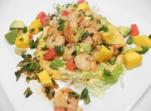 Lime Shrimp Tacos with Mango Salsa