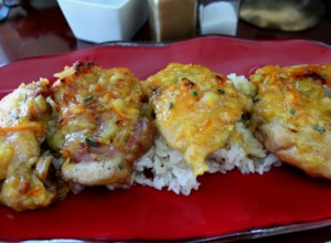 Baked Chicken Thighs with Marmalade-Mustard Sauce