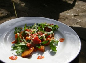Roasted Sweet Potato and Rocket Salad