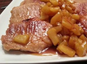 Caramel Apple Pork Chops