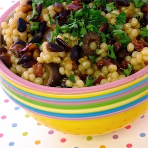 Couscous with Olives and Sun-Dried Tomato
