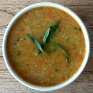 Carrot, Potato, and Cabbage Soup Recipe - This hearty soup with onion, carrot, potato, and cabbage is quick and simple to prepare.