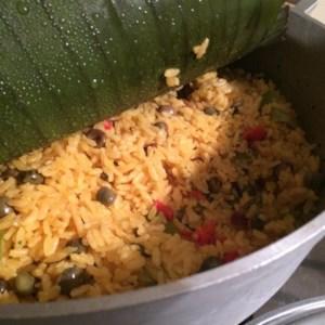 easy arroz con gandules - Christmas Rice