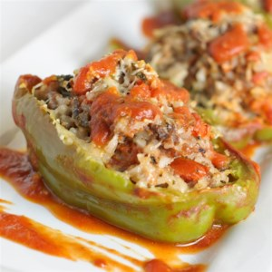 Chef John's Stuffed Peppers Recipe and Video - Stuff green bell peppers with a mixture of rice, ground beef and pork sausage for a simple and satisfying supper.