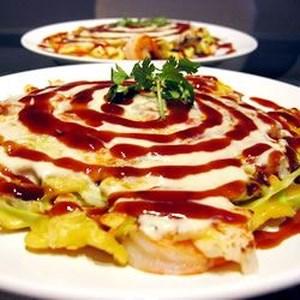 Japanese main dish recipes allrecipes japanese okonomiyaki recipe japanese style dinner pancake integrating cabbage and meat for a forumfinder Choice Image