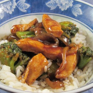 Broccoli and Chicken Stir-Fry Recipe and Video - Make a quick weeknight dinner with this stir-fry recipe mixing chicken, broccoli, and onion in a mixture of soy sauce, ginger, and brown sugar.