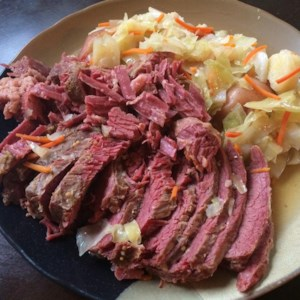 Slow-Cooker Corned Beef and Cabbage   Recipe and Video - Slow cook your St. Patrick's Day corned beef dinner, and celebrate the easy way.