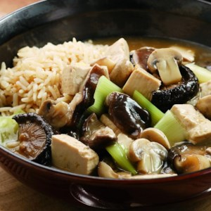Red-Cooked Tofu with Mushrooms
