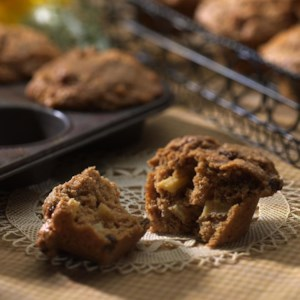 Spiced Apple Butter Bran Muffins