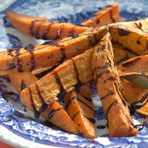 Roasted Sweet Potatoes with Balsamic Drizzle
