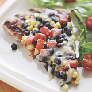 Smoky Corn & Black Bean Pizza