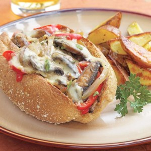 "Portobello ""Philly Cheese Steak"" Sandwich"
