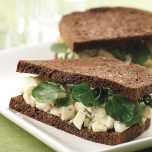 Egg Salad Sandwiches with Watercress