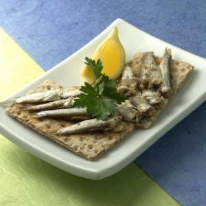 Sardines on Crackers