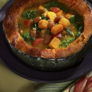 Amazon Bean Soup with Winter Squash & Greens