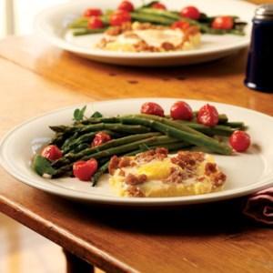 Cheesy Polenta & Egg Casserole