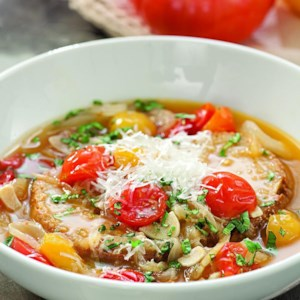 Roasted Tomato-Bread Soup