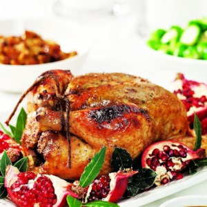 Roast Chicken with Pomegranate Glaze