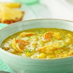 Jamaican Curried Shrimp & Mango Soup