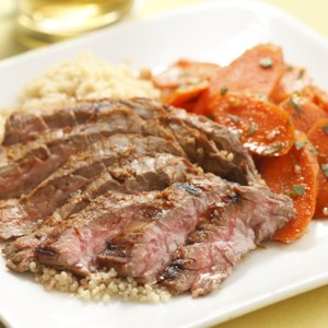 Harissa-Rubbed Steak & Carrot Salad