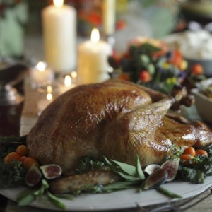 Michel Nischan's Roast Turkey with Potato Pan Gravy