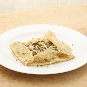 Sausage & Applesauce Brunch Crepes