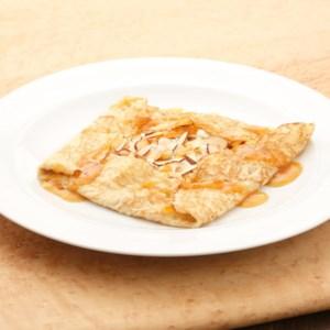 Sweetened Ricotta & Apricot Crepes