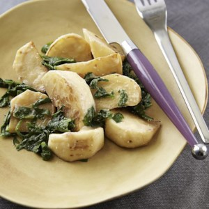 Miso-Butter Braised Turnips