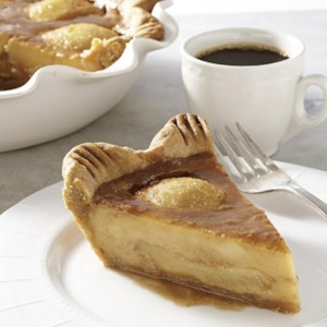 Caramelized Pear Custard Pie