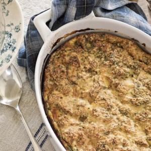 Prosciutto & Asparagus Strata