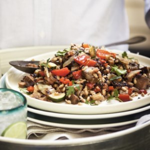Ratatouille Black Rice & Farro Salad