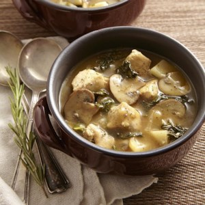 Chicken Stew with Turnips & Mushrooms