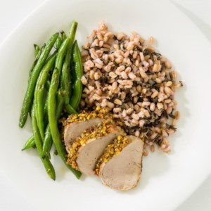 Orange-&-Pistachio Crusted Pork Tenderloin