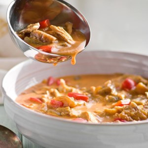 Serbian Chicken & Eggplant Soup