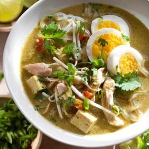 Singapore-Style Chicken & Noodle Soup