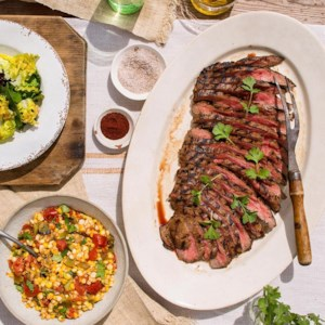 Juniper-Marinated Bison Flank Steak