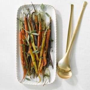 Roasted Rainbow Carrots with Sage Brown Butter