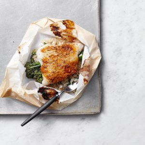 Gochujang-Glazed Cod & Broccolini Packets