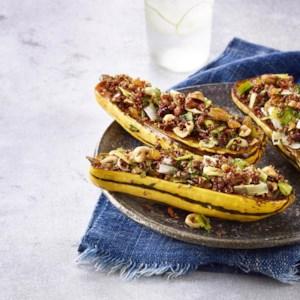 Quinoa-Stuffed Delicata Squash