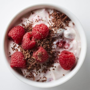 Raspberry Yogurt with Dark Chocolate
