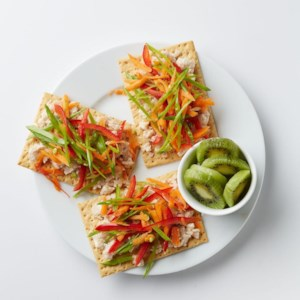 White Bean Spread with Veggie Slaw