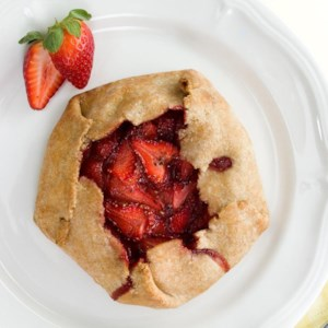 Strawberry-Black Pepper Tart for Two