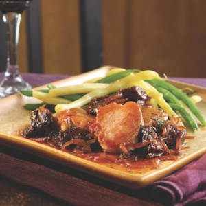 Pork Medallions with Fig & Port Wine Sauce