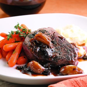 Filet Mignon with Madeira-Prune Sauce