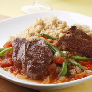 Lamb Chops with Lebanese Green Beans