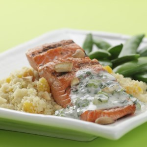 Cashew Salmon with Apricot Couscous
