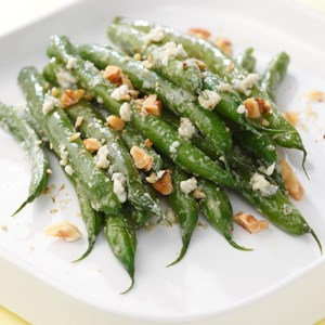 Blue Cheese-Walnut Green Beans